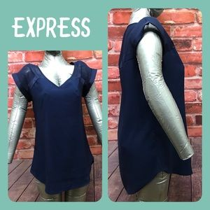 Express Gramercy Vneck with mesh shoulder